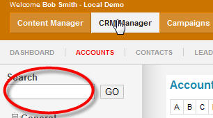 Managing CRM Sections