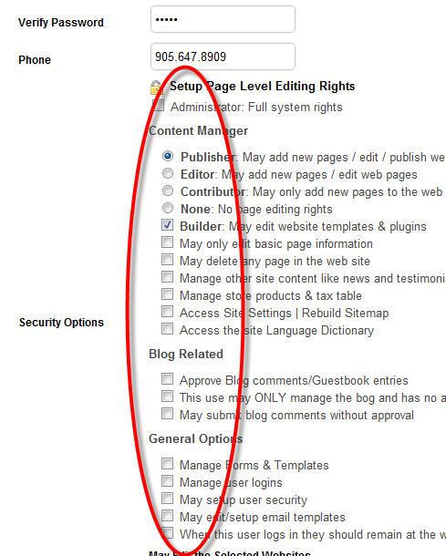 Page Editing Security